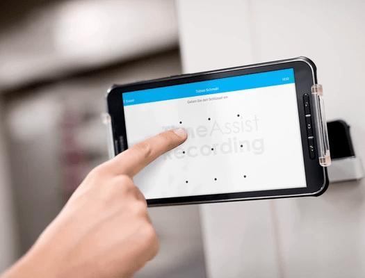 Time Recording mit Tablet als Stempelgerät