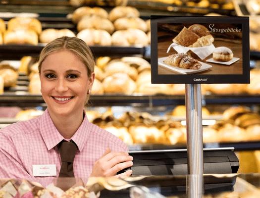 Kundenorientiertes verhalten an der Bäckerei Kasse