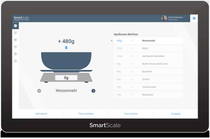 Screenshot von der SmartScale Interface