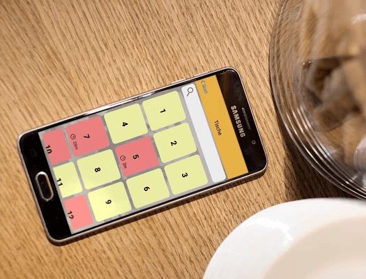 Café mit Handheld-Kassensystem CashAssist mobileWaiter