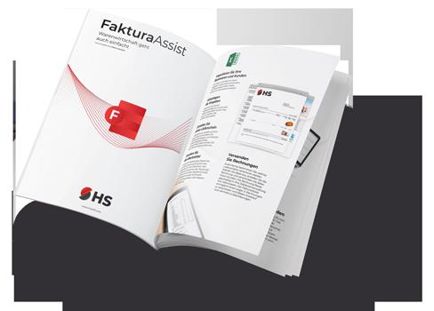 PDF Flyer mit FakturaAssist Bäckereisoftware von HS-Soft