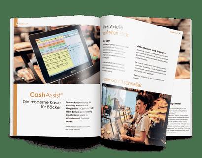Broschüre mit Kassen- und Software- Lösungen von HS-Soft
