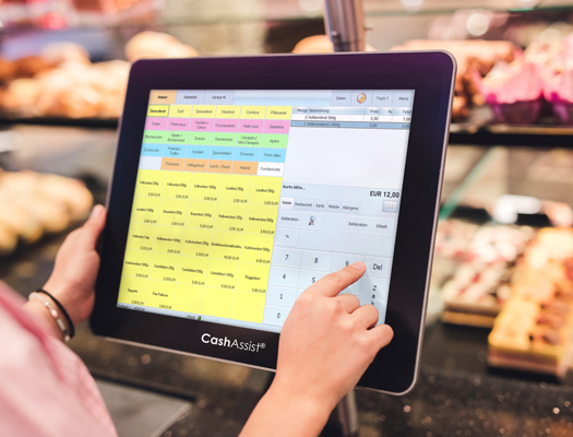 CashAssist - einfache Bedienung über Registrierkassen