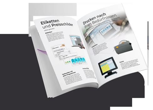 PDF Flyer mit LabelAssist Software von HS-Soft
