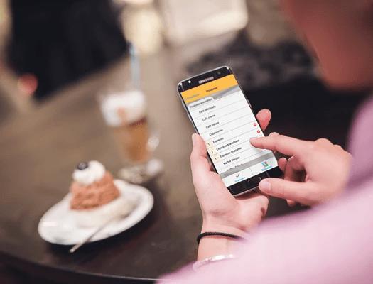 Smartphone App für Café und Bäckerei Bestellungen