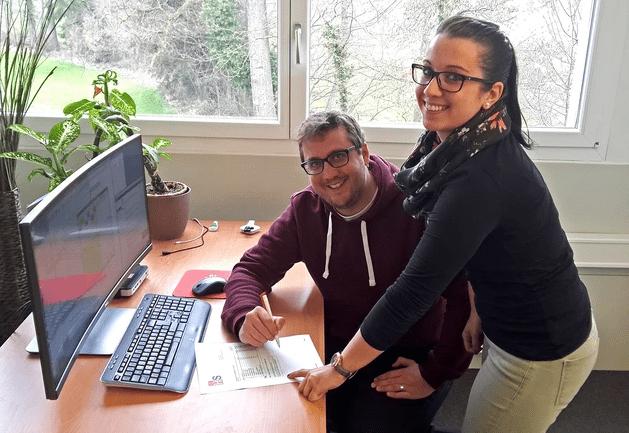 Diego Moresi und Nicole Herrmann von HS-Soft Teamdie neue Annahmekontrolle-Funktion im FakturaAssist vor