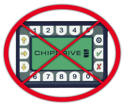 Chipdrive-Zeitterminals am Ende