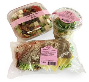 Vorgepackten Produkte mit Labels
