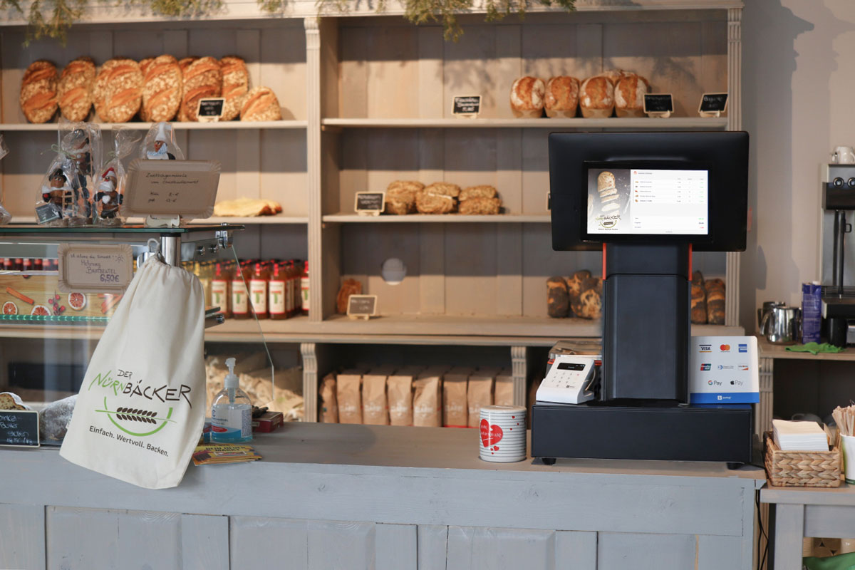 CashAssist S2 Waage in der Bäckerei Nürnbäcker
