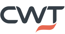 logo for CWT in blue and orange