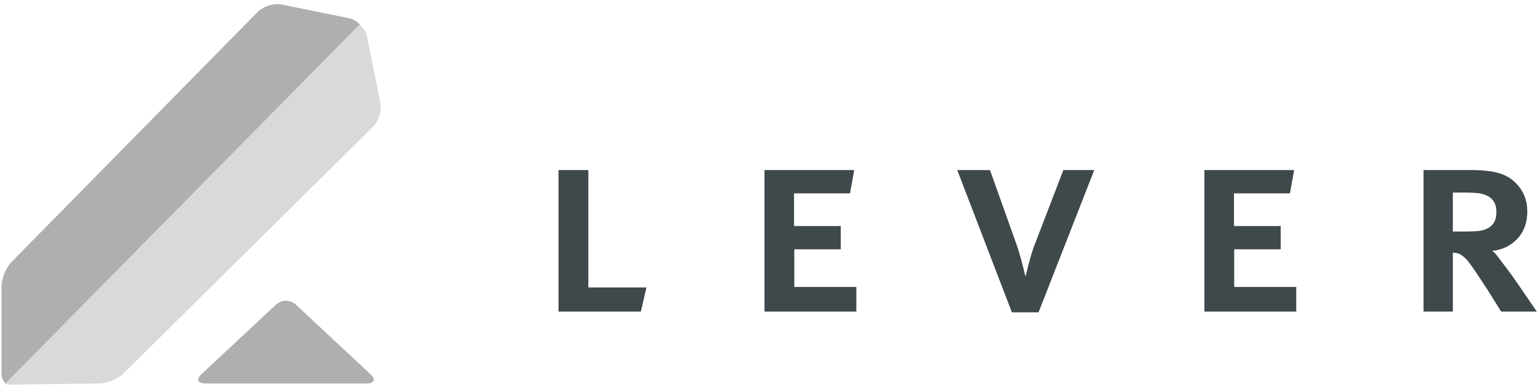 logo for Lever in grayscale