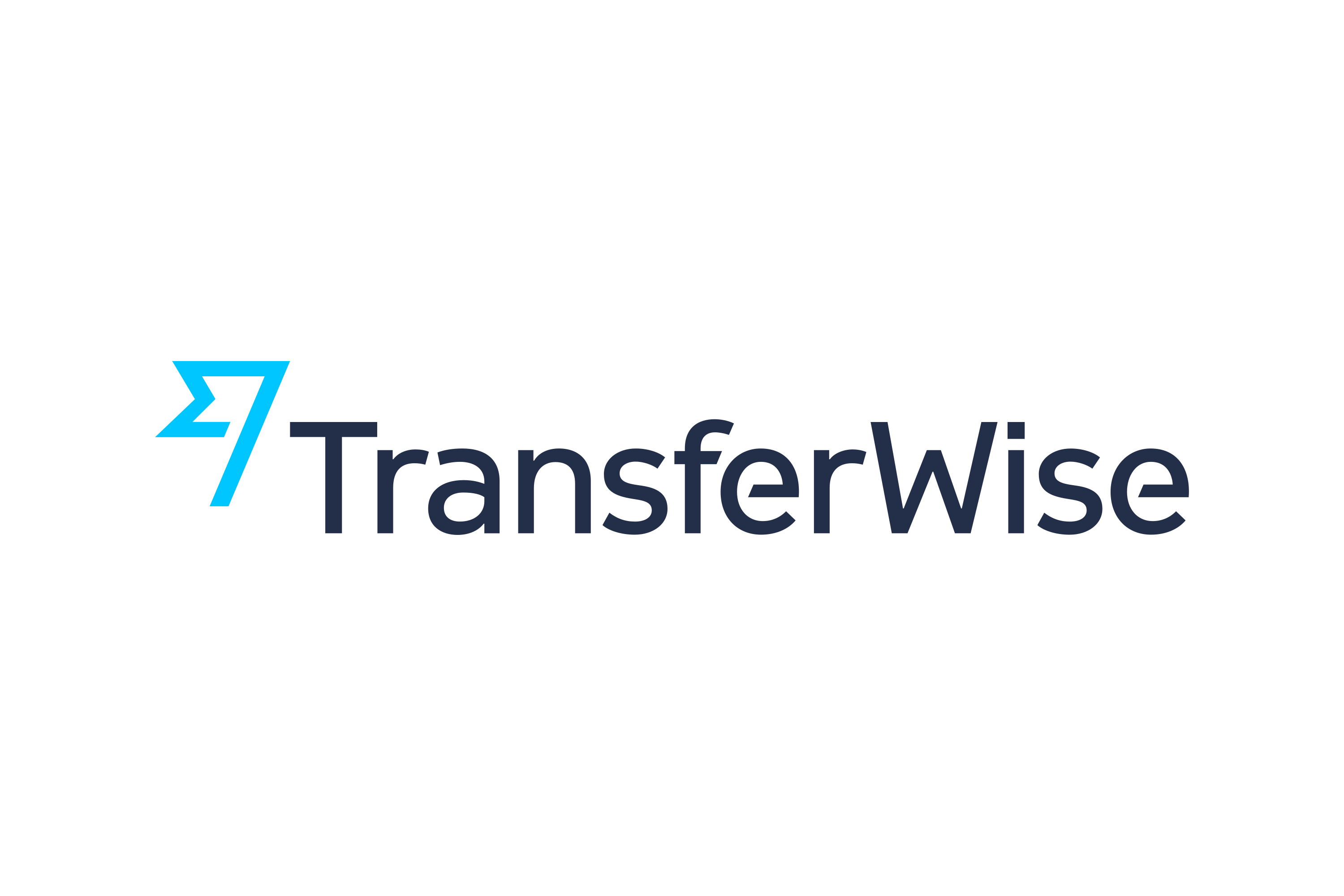 logo for Transferwise in blue