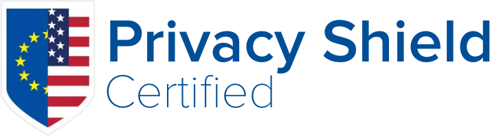 Privacy Shield logo in blue, red, and white
