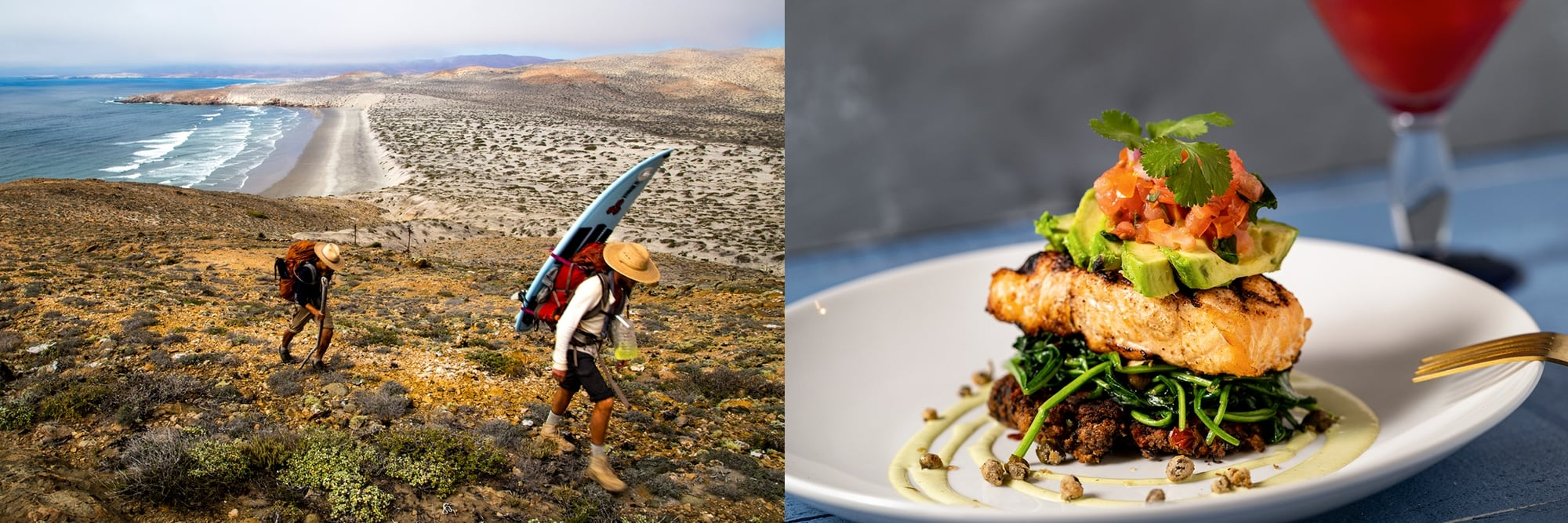 An image of the baja peninsula & salt & lime cabo grill's salmon