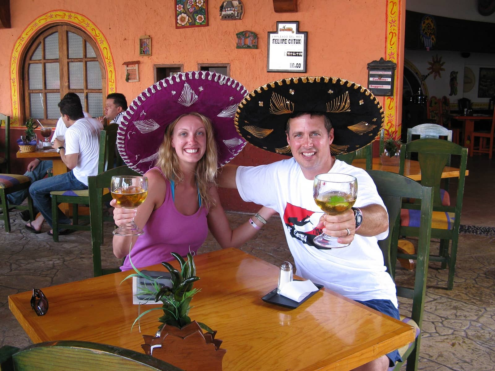 Owners enjoying a drink in Cabo.