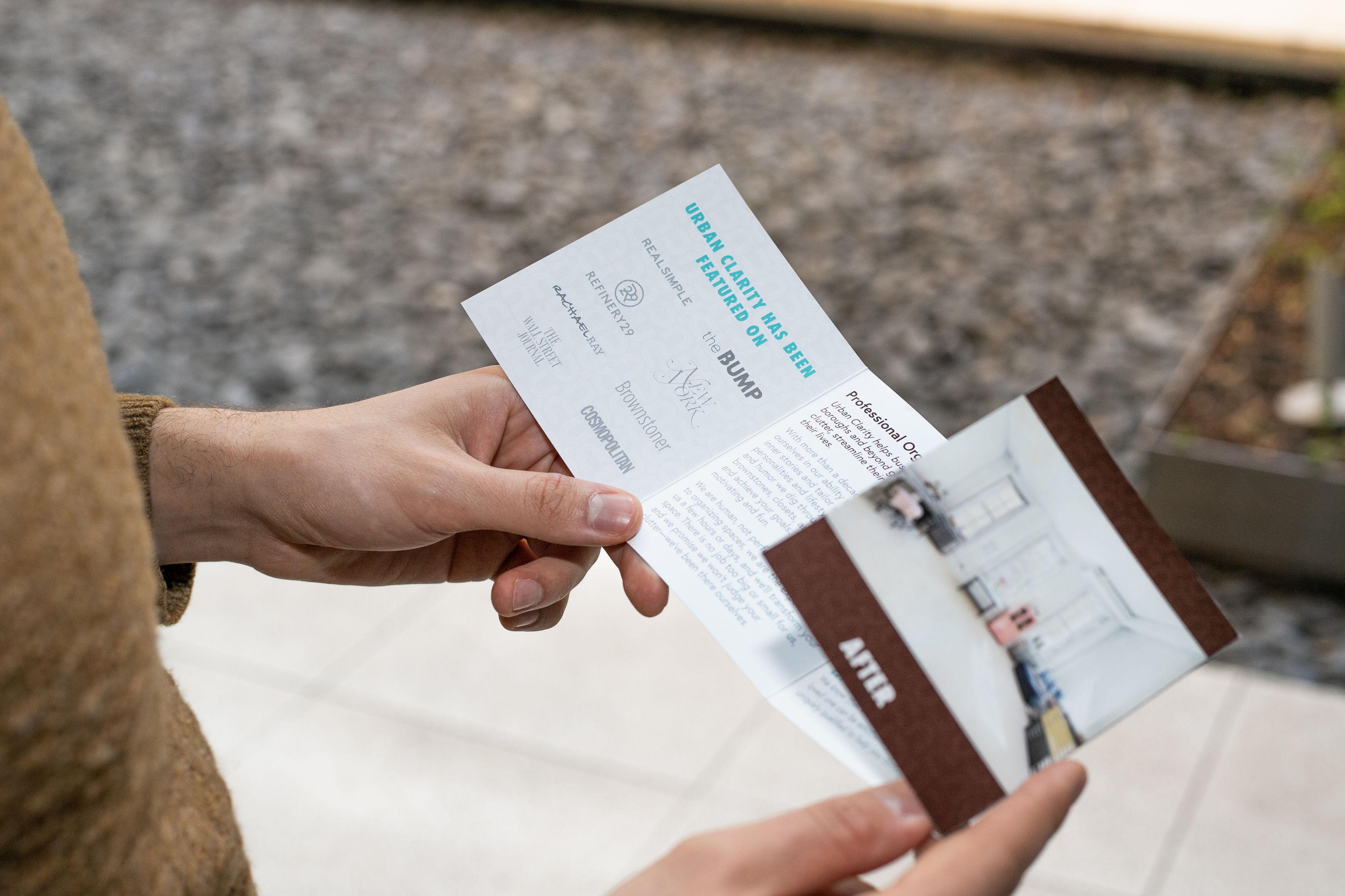 brochure design - inside