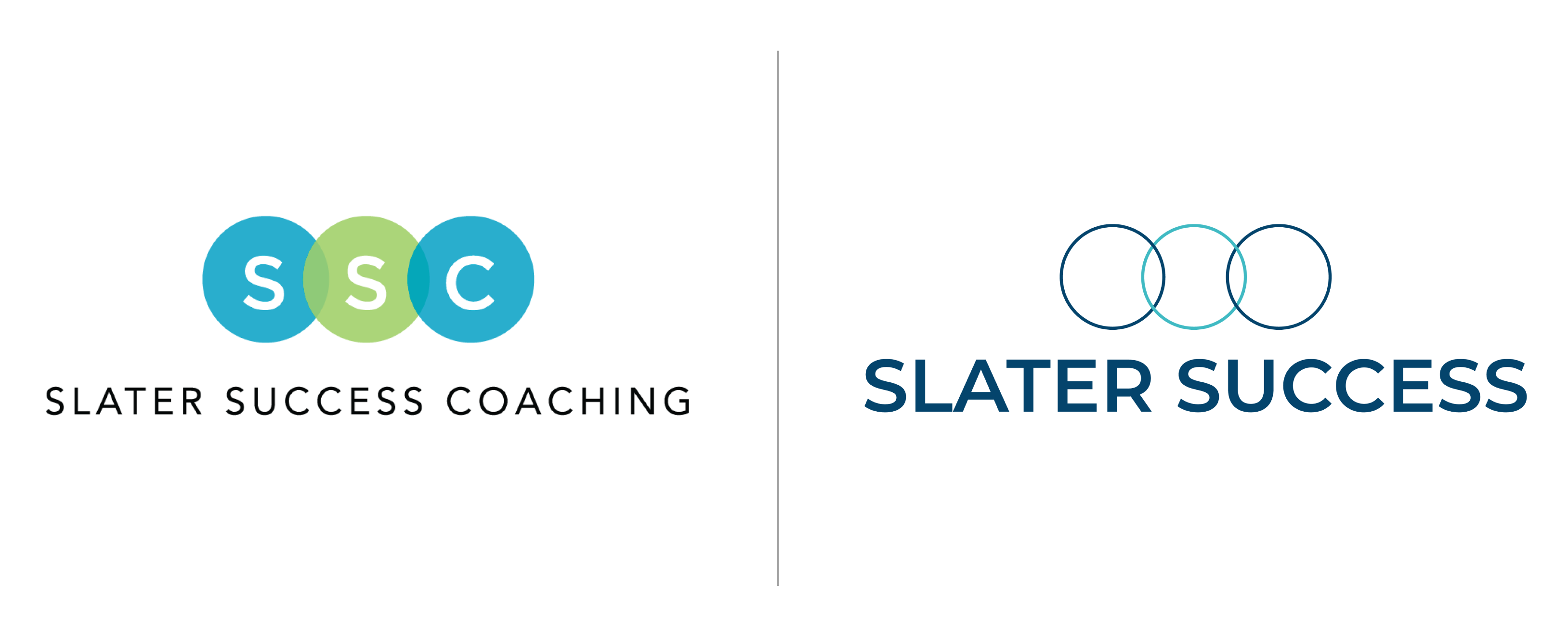 Coaching Logo: Before (left) and After (right)