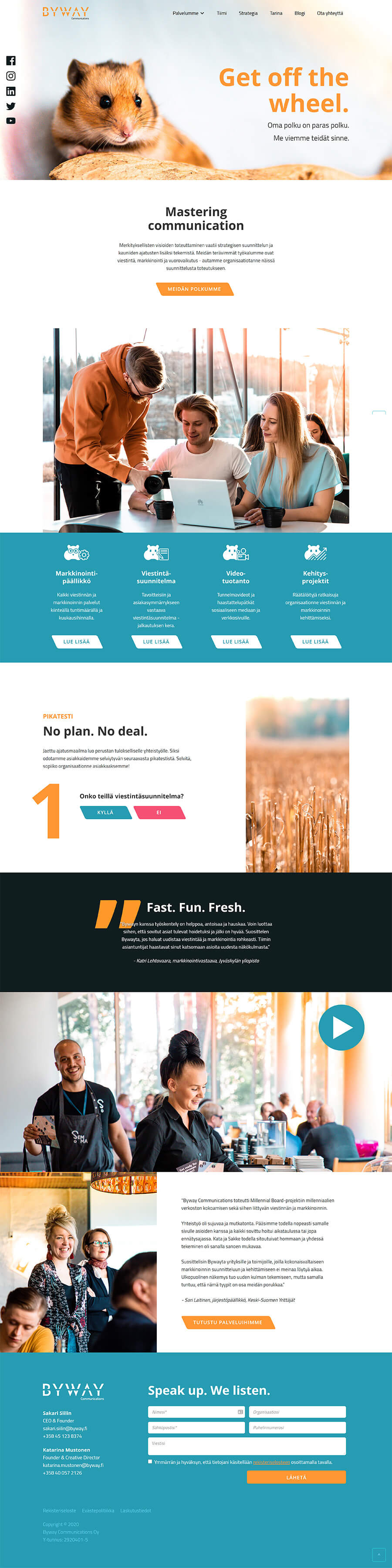 Byway Communications responsiiviset verkkosivut desktop