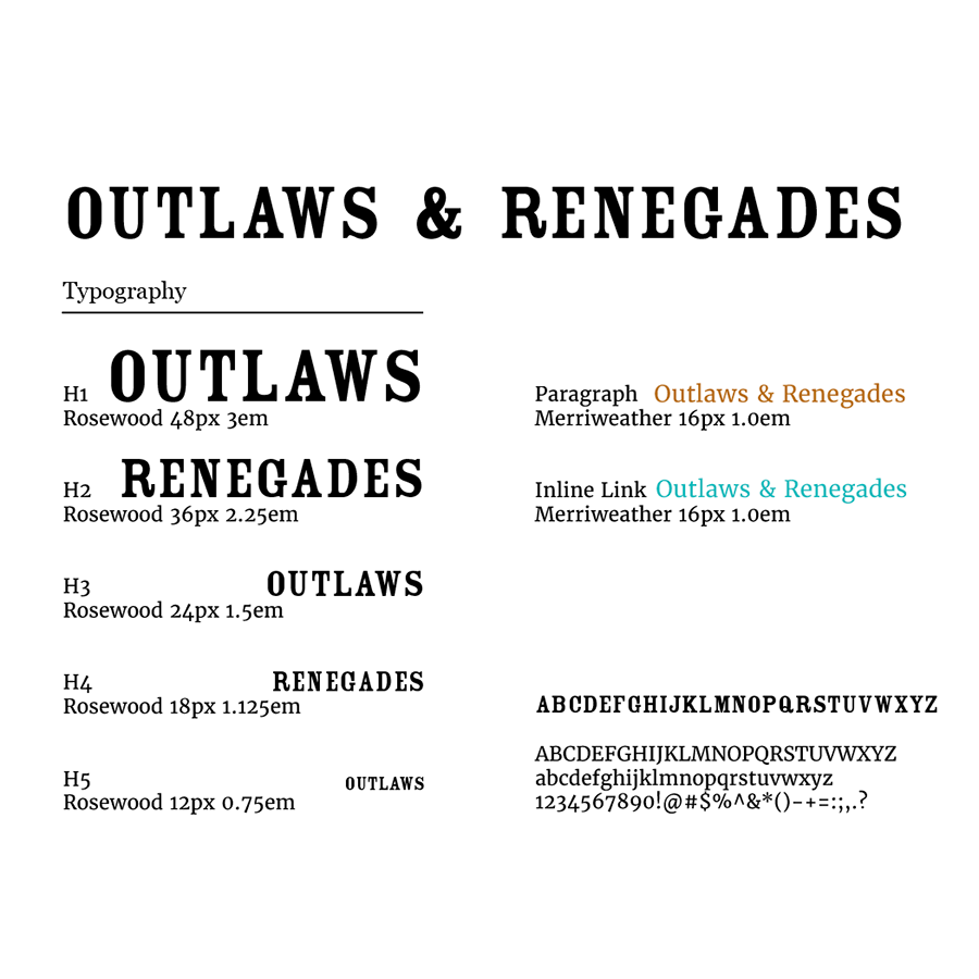 outlaws fonts
