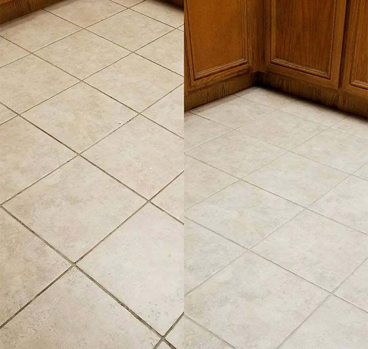 Tile and grout cleaning project by Final Touch Carpet Cleaning