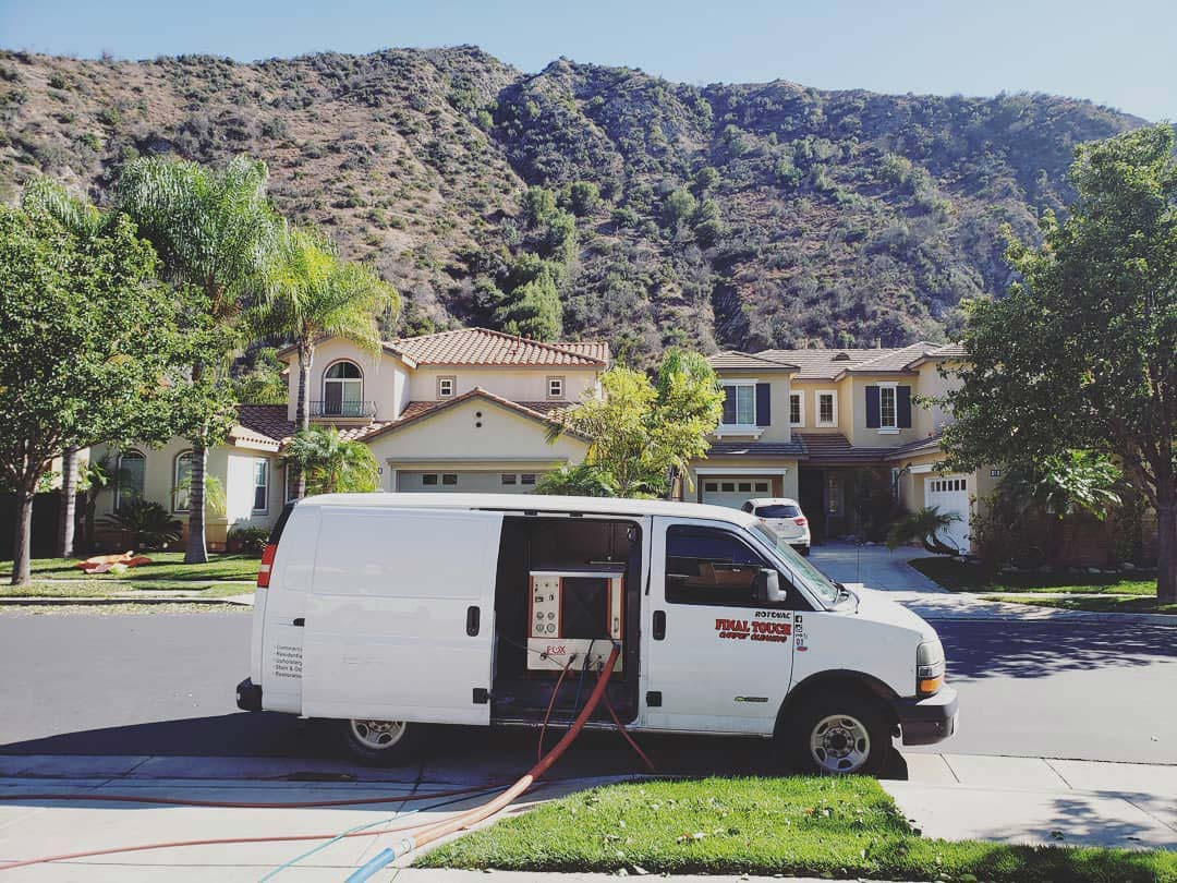 Final Touch Carpet Cleaning van in Pasadena, CA