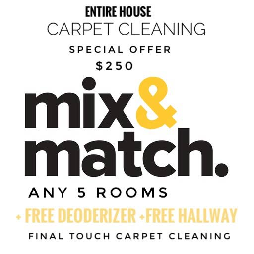 Mix and match Carpet Cleaning special offer