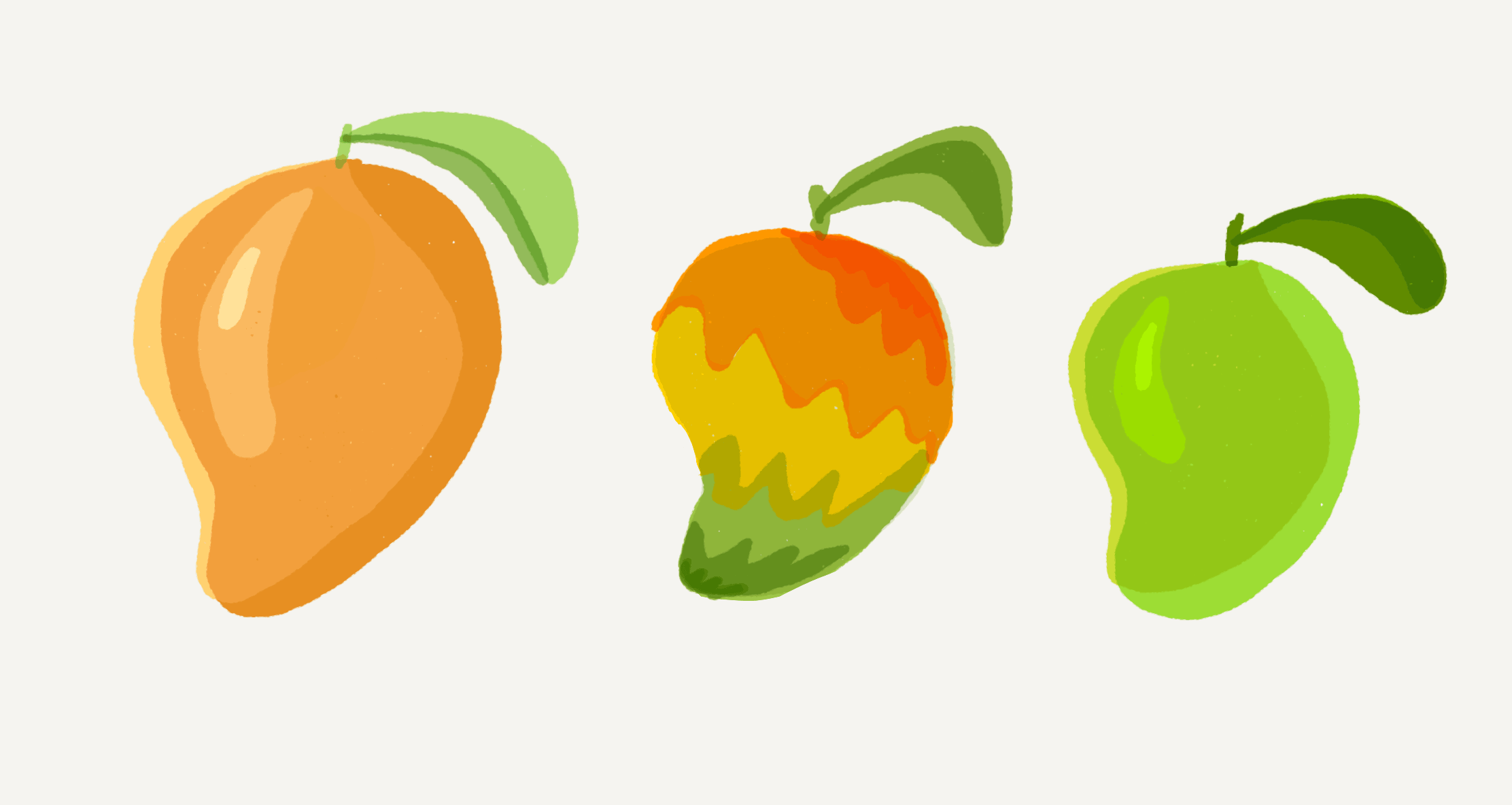 A wide array of mangoes