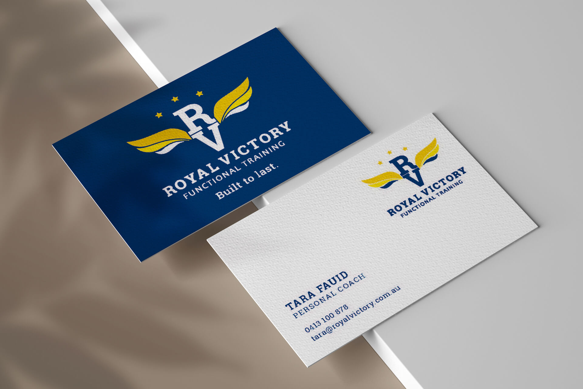 Royal Victory Business Card Design
