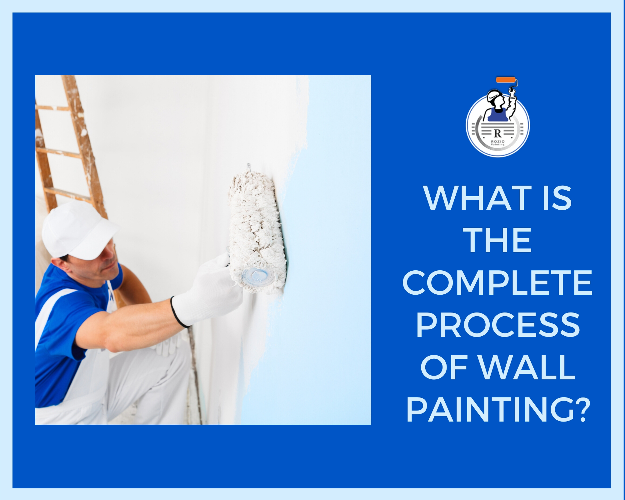 What is the complete process of wall painting
