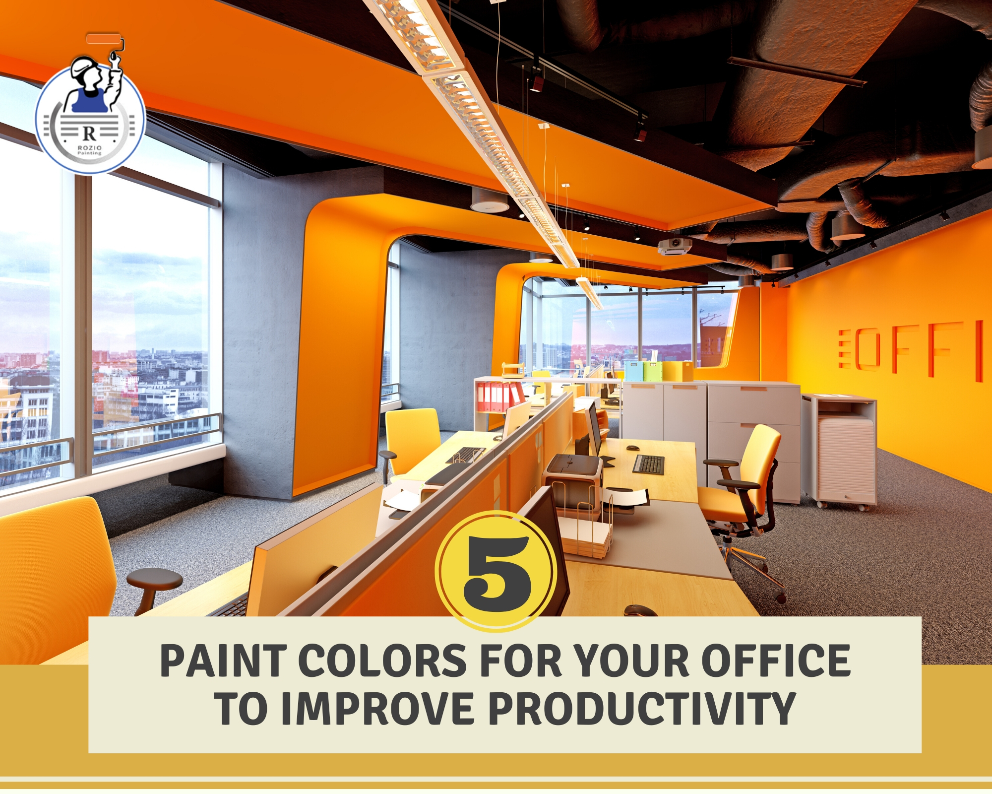 5 Best Office Paint Colors to Improve Productivity