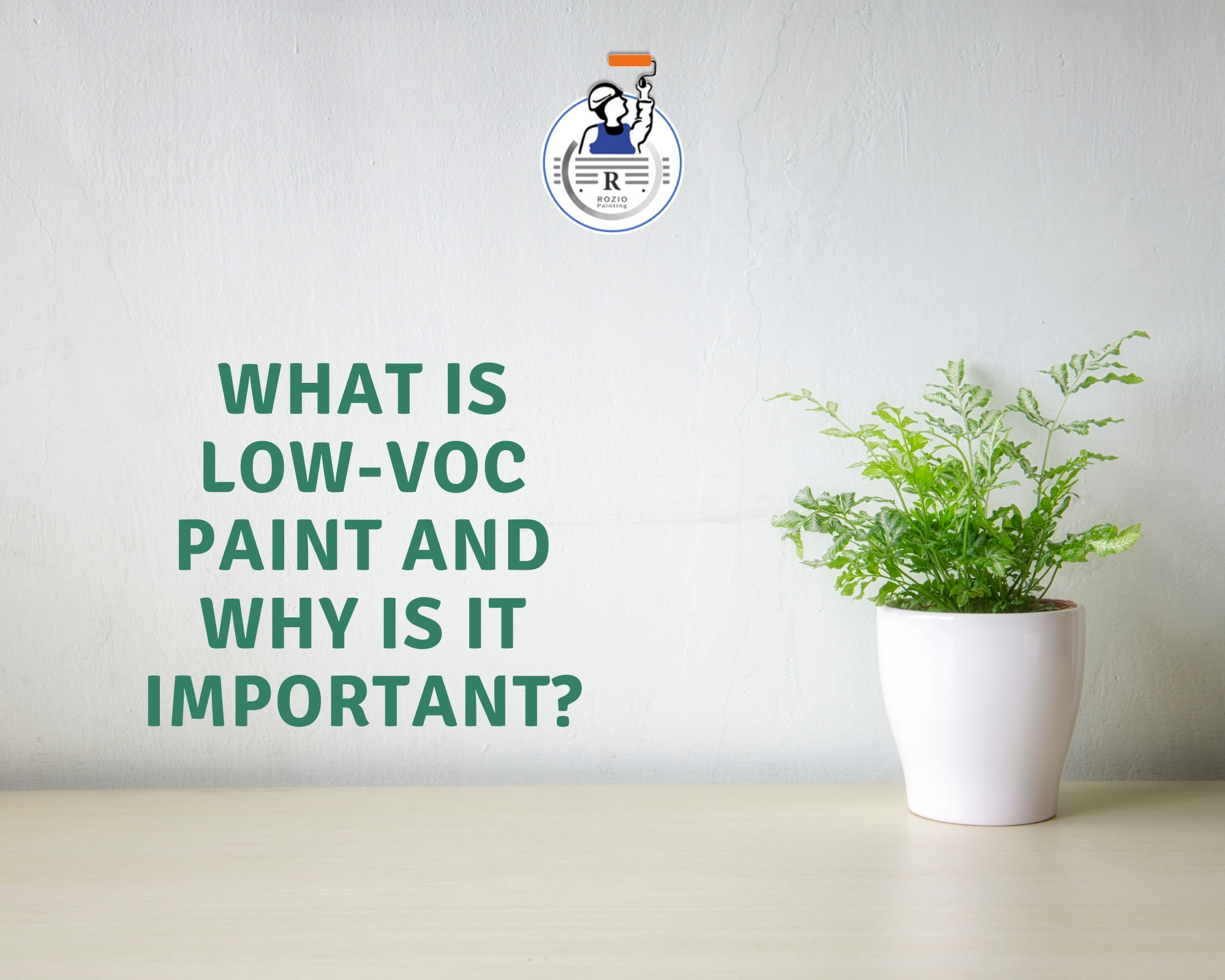 What is low-VOC paint and why is it important?