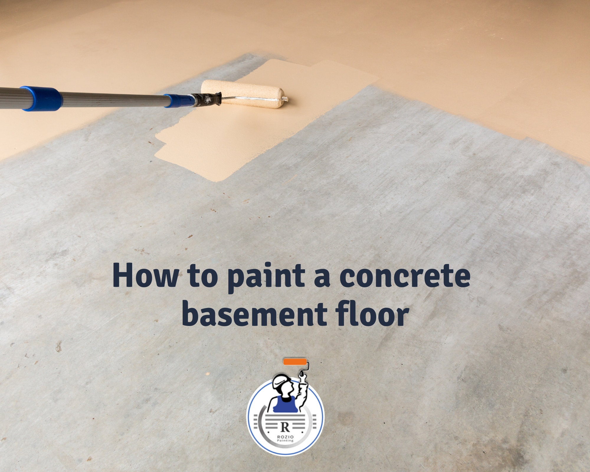 How to paint a concrete basement floor