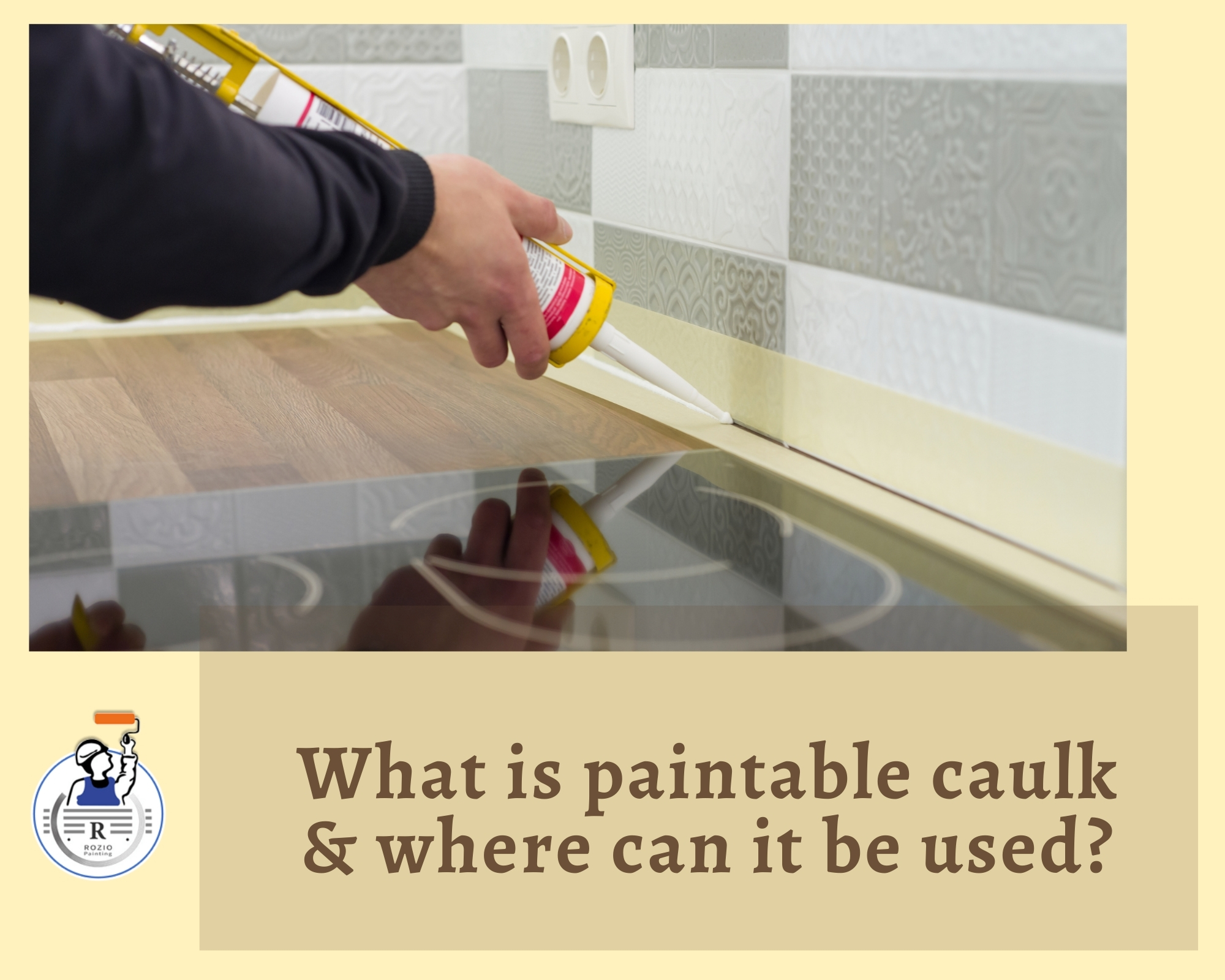 What is paintable caulk