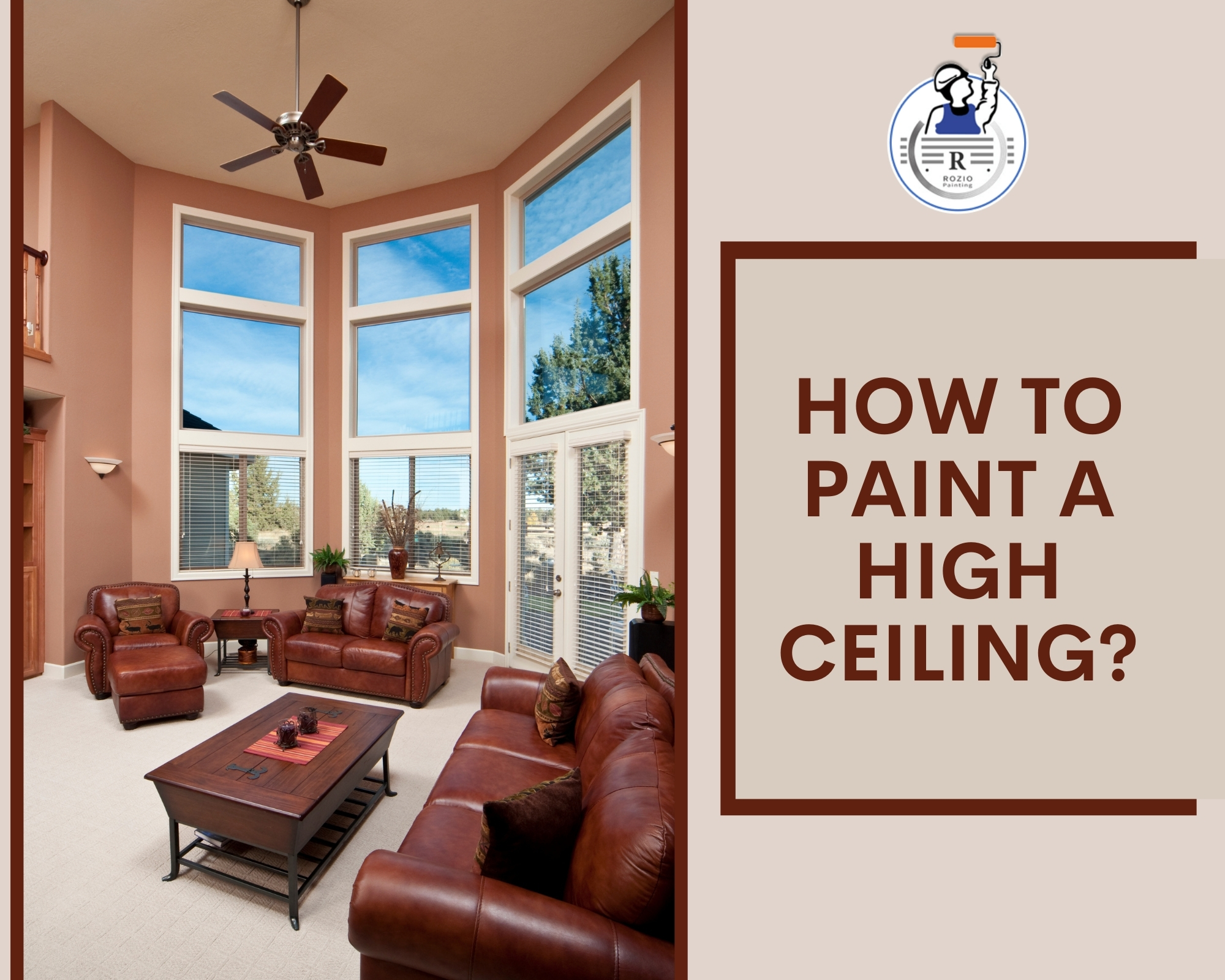 How to paint a high ceiling