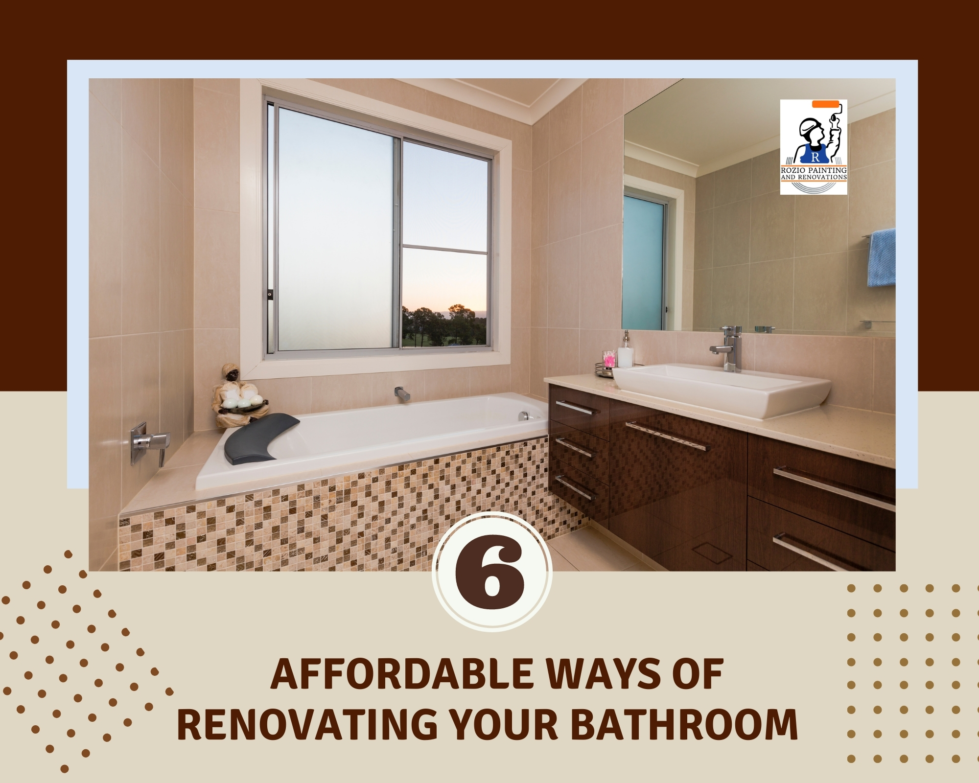 6 Afforable Ways of Renovating your Bathroom