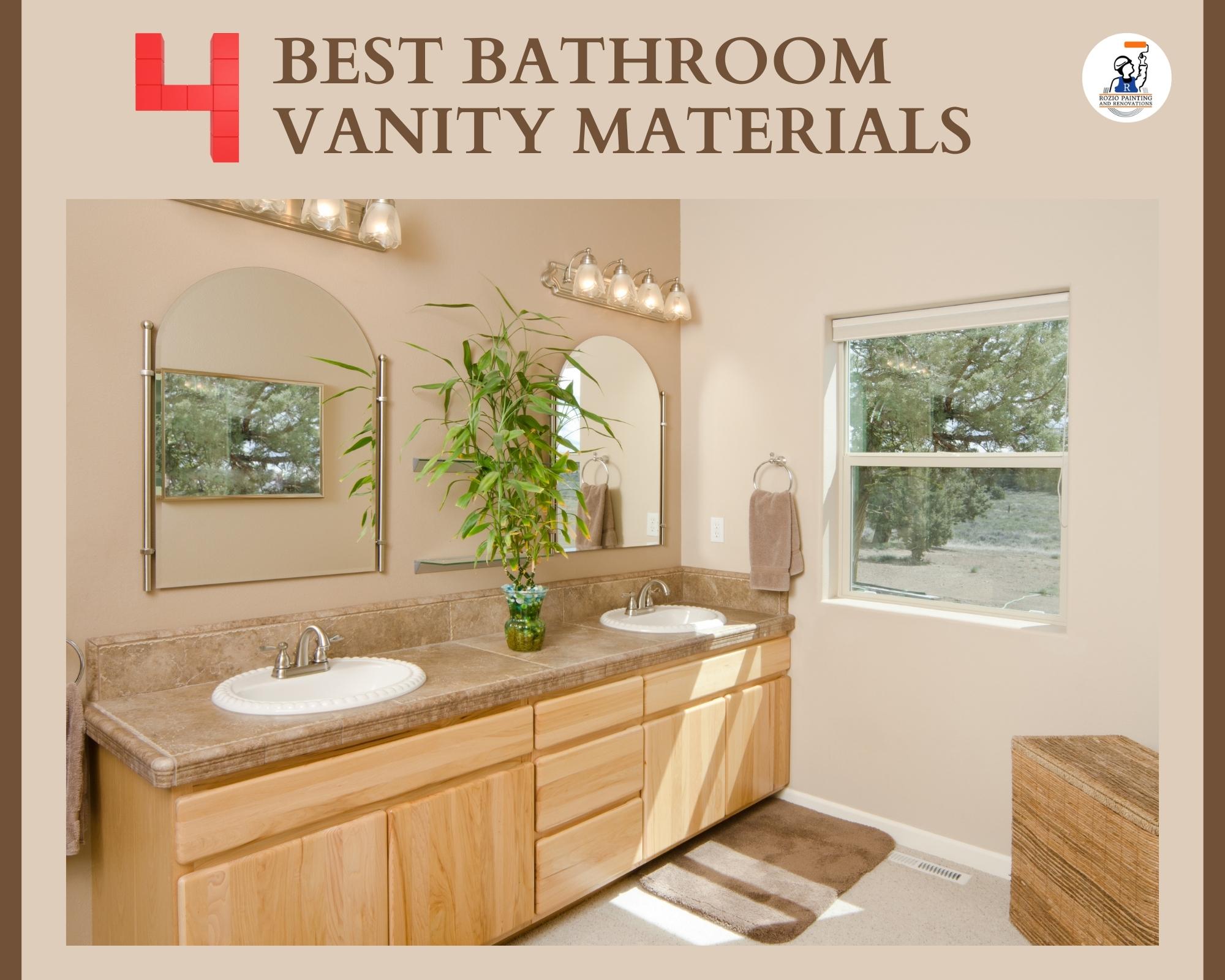 4 Best Bathroom Vanity Materials
