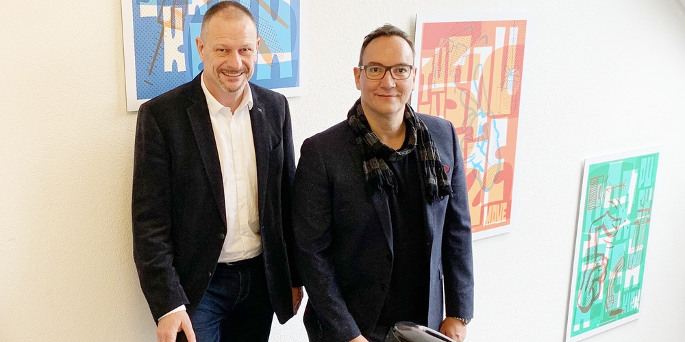 Andreas Ziltener (l), Peter van der Touw (r)