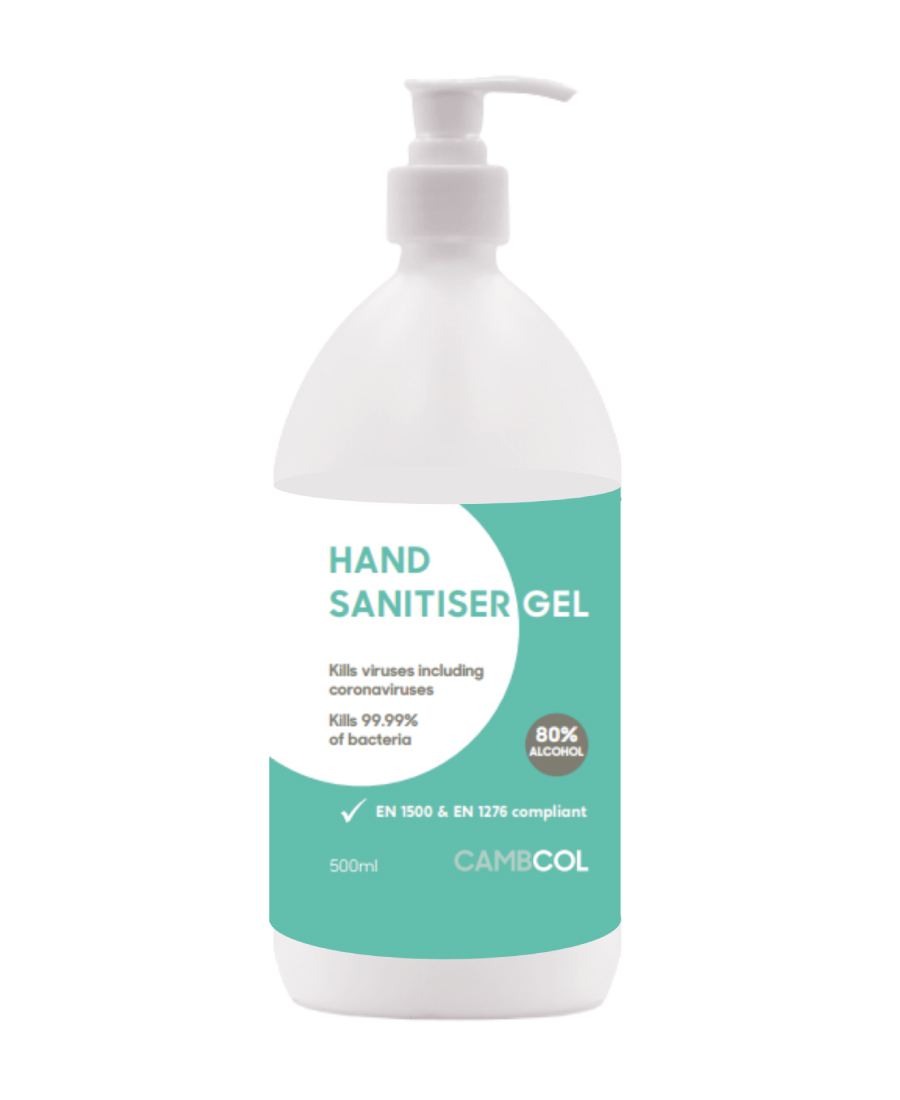 Cambcol 80% Alcohol Hand Sanitiser 500ml (Gel)