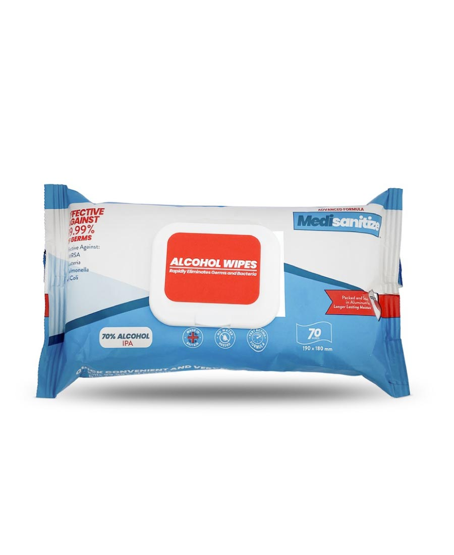 70% Alcohol Wipes 70 per pack