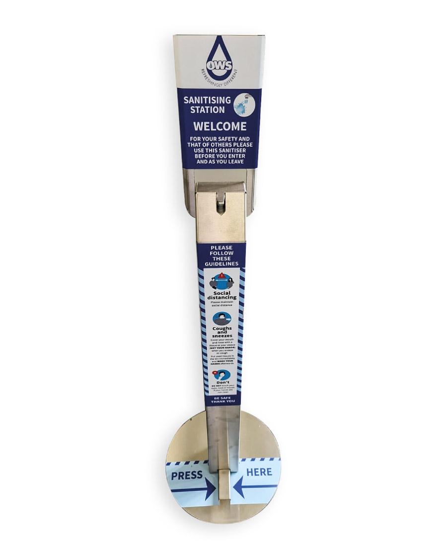 Floor Standing Hands Free Sanitiser Station - Personalised