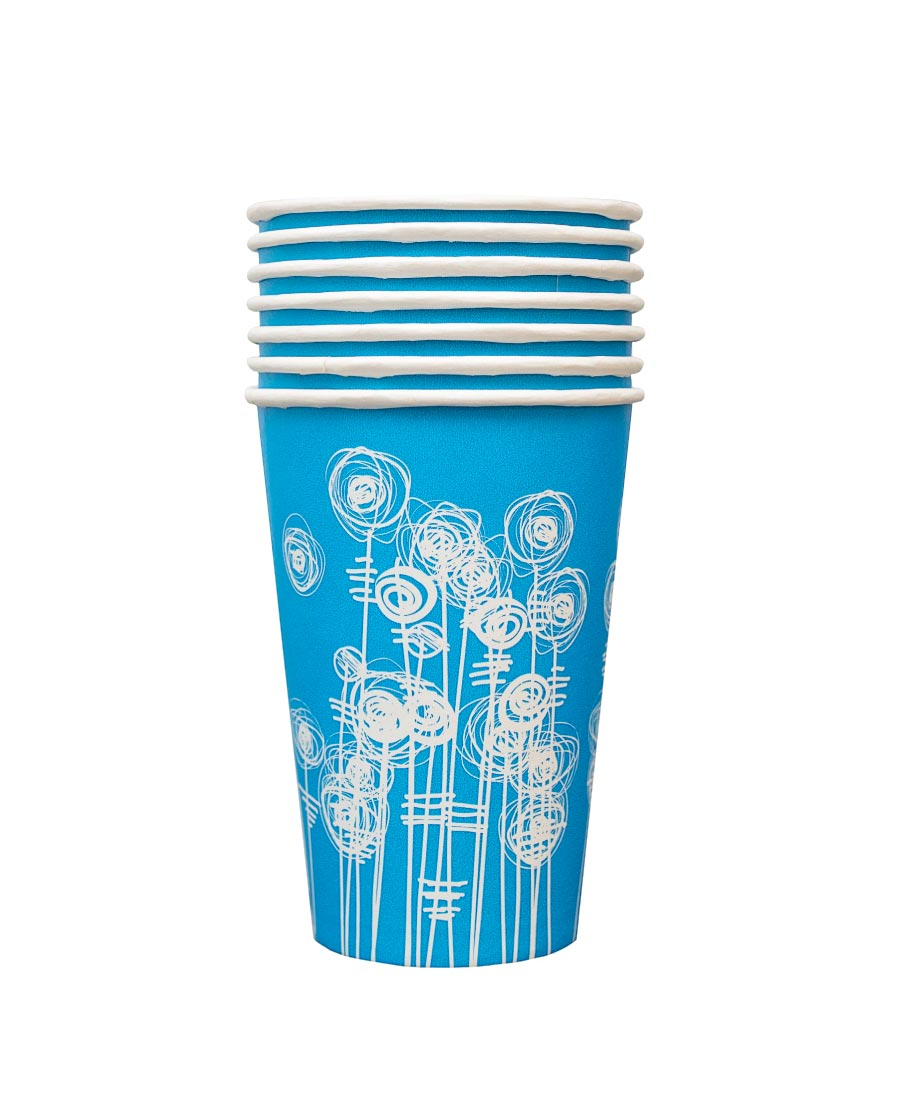 7oz Aqua Swirl Paper Cups (2000)