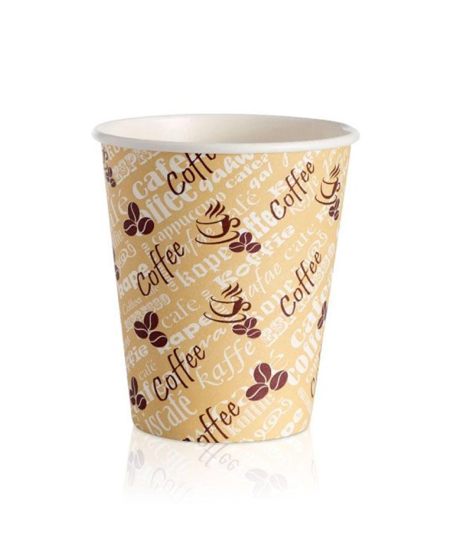8oz Paper Cups Single Wall Red Beam (1000)
