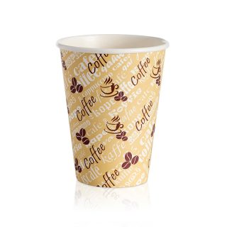 12oz Paper Cups Single Wall Red Bean (1000)