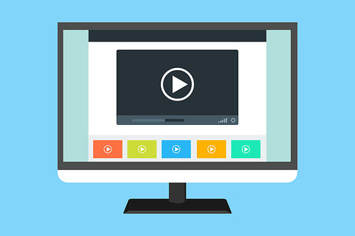 Video Template Website Youtube Layout Flat