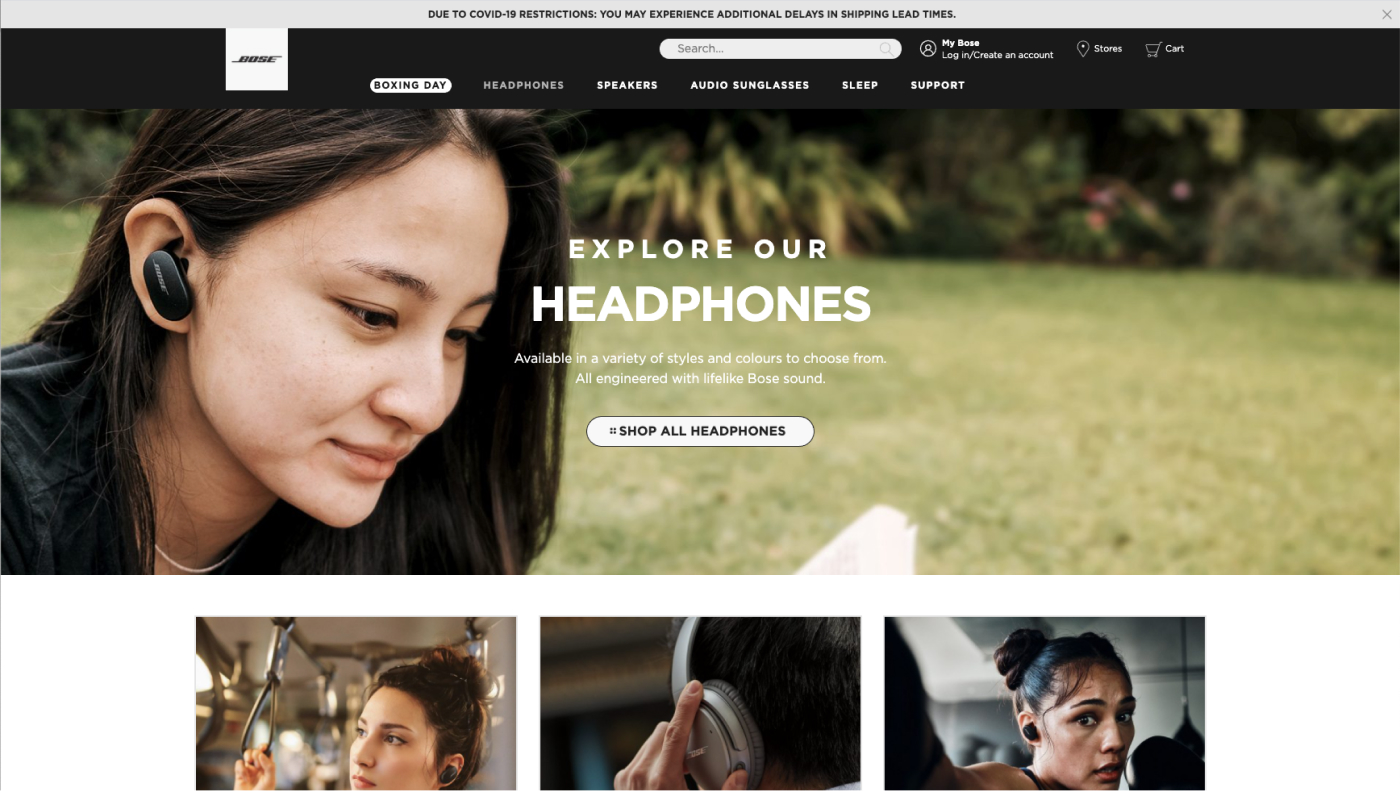 User-centric imagery makes great website design