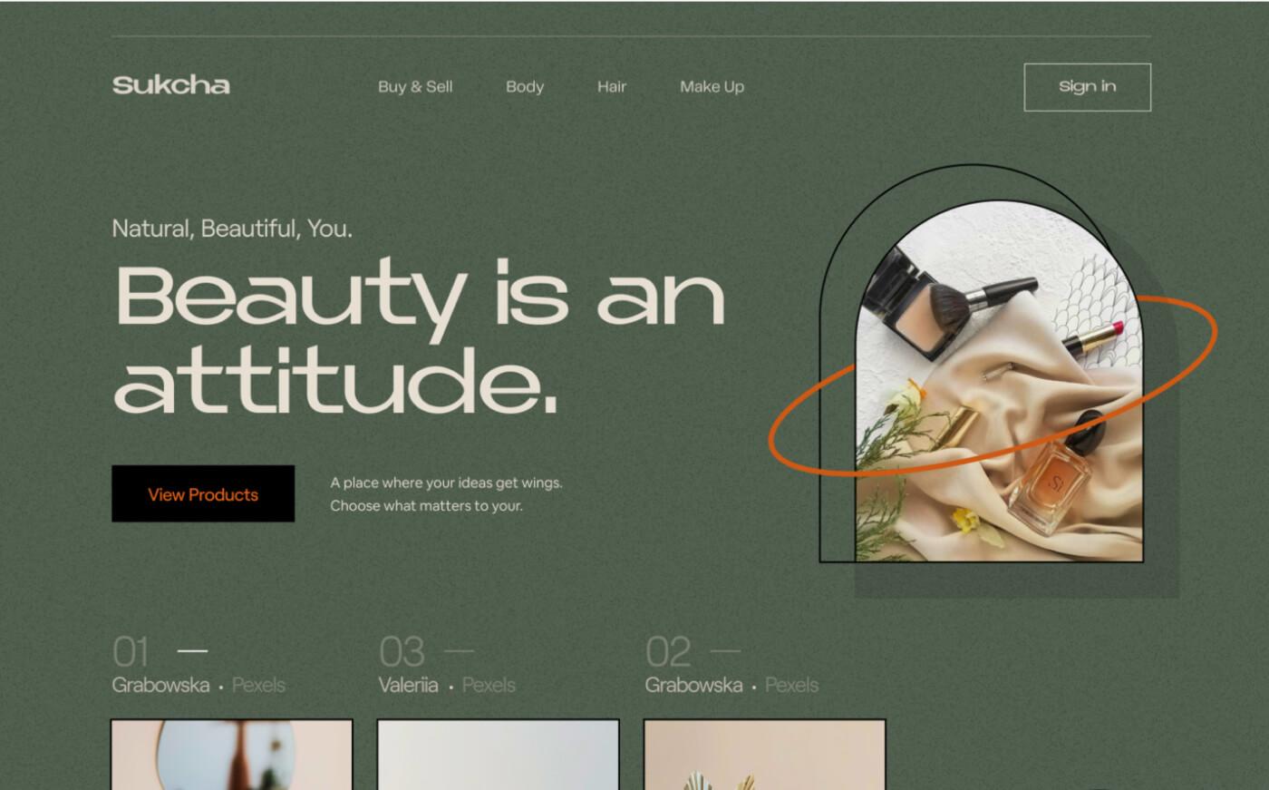 custom typeface web design