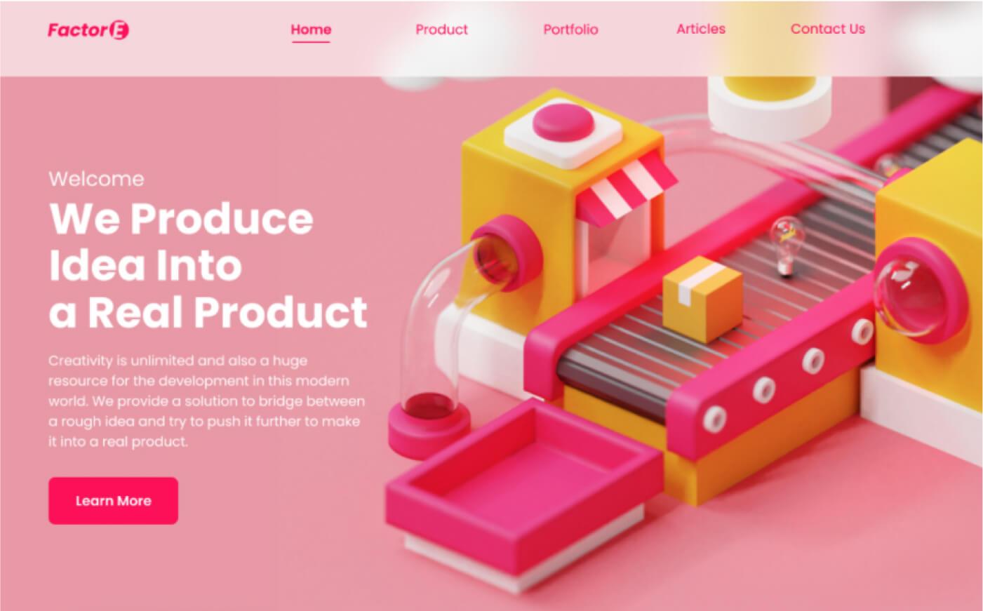 2d + 3d shapes web design