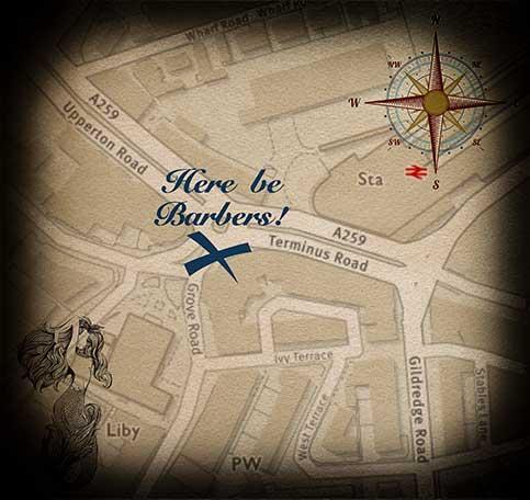 Richard Haven Eastbourne Barber map