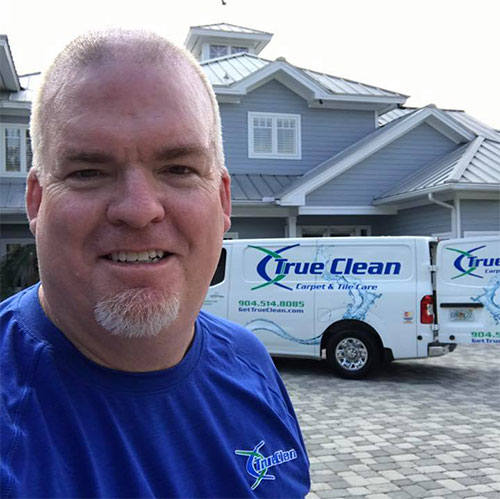 jerry, owner of True Clean carpet and tile care jacksonville