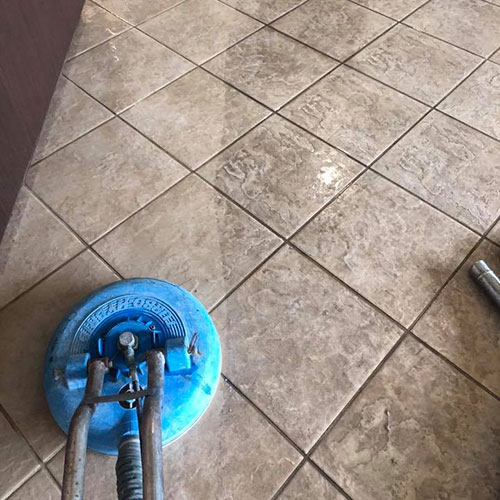 tile cleaning project